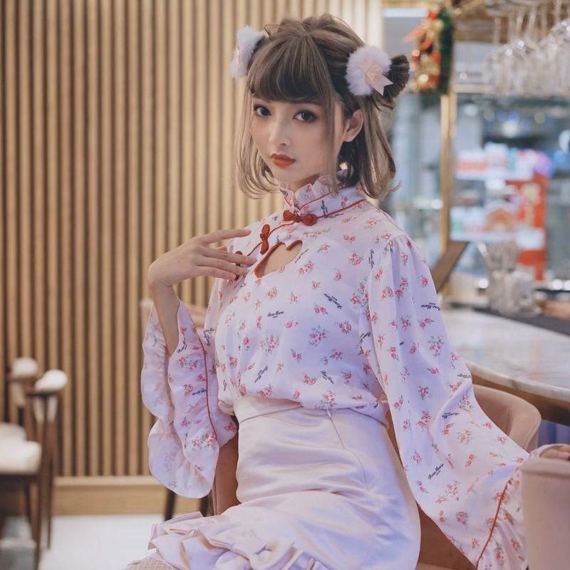 画像1: 【20%OFF】china heart blouse(チャイナハートブラウス) (1)