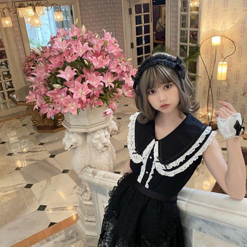 画像1: lace headdress(レースヘッドドレス) (1)