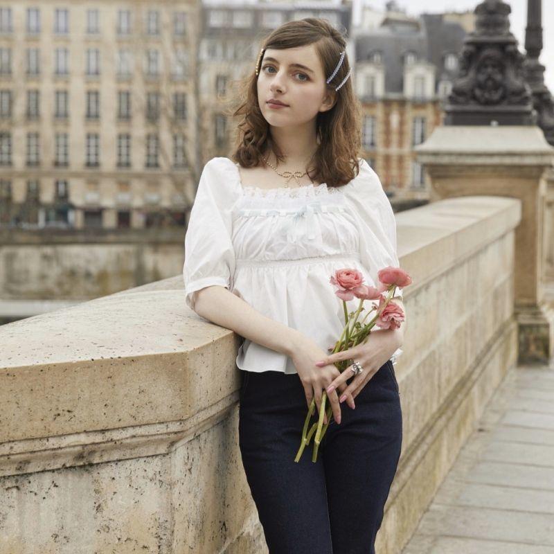 画像1: 【20%OFF】cotton blouse(コットンブラウス) (1)
