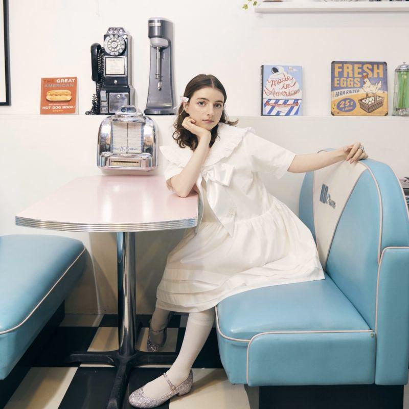 画像1: 【50%OFF】sailor one-piece dress(セーラーワンピース) (1)