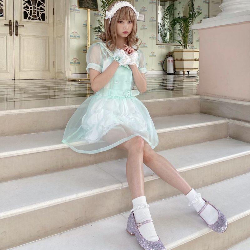 画像1: double sailor one-piece dress(ダブルセーラーワンピース) (1)