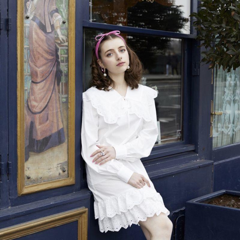 画像1: cotton lace one-piece dress(コットンレースワンピース) (1)