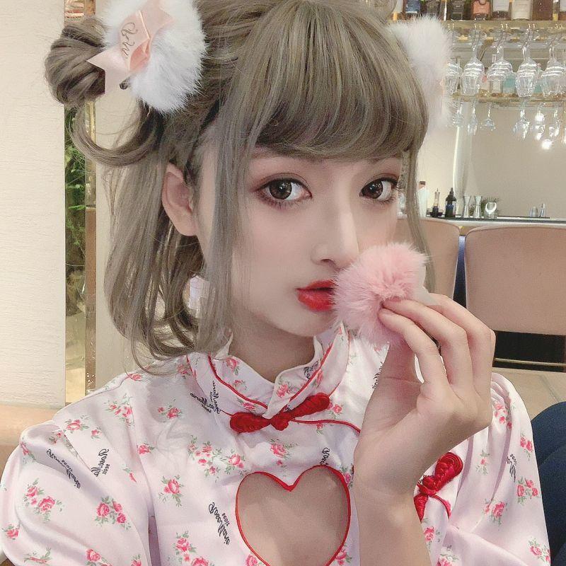 画像1: sweet puff hair-pin(スイートパフヘアピン) (1)