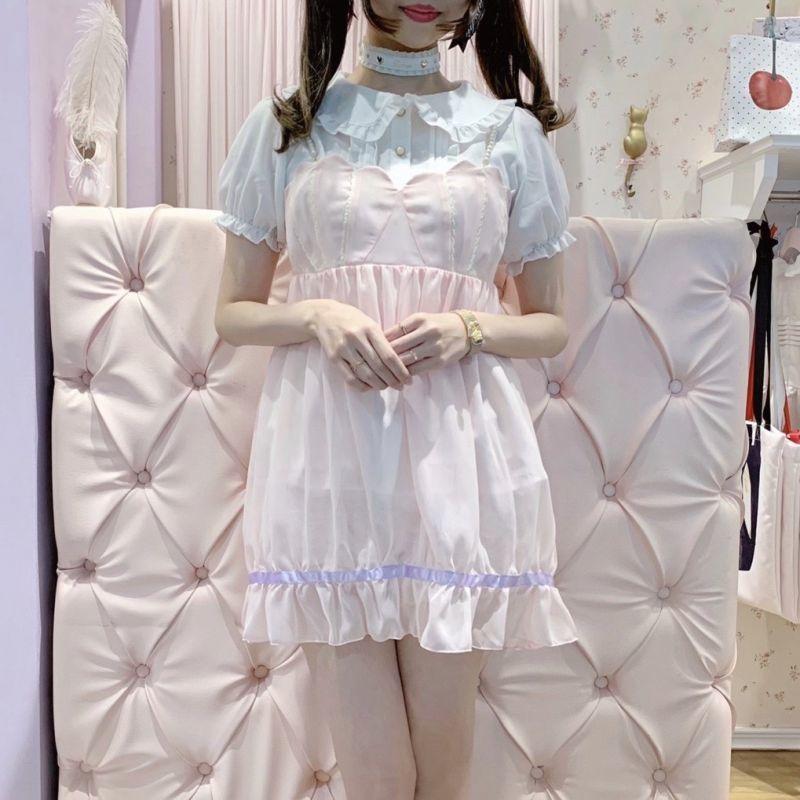 画像1: 【50%OFF】mini mermaid camisole one-piece dress(ミニマーメイドキャミワンピース) (1)