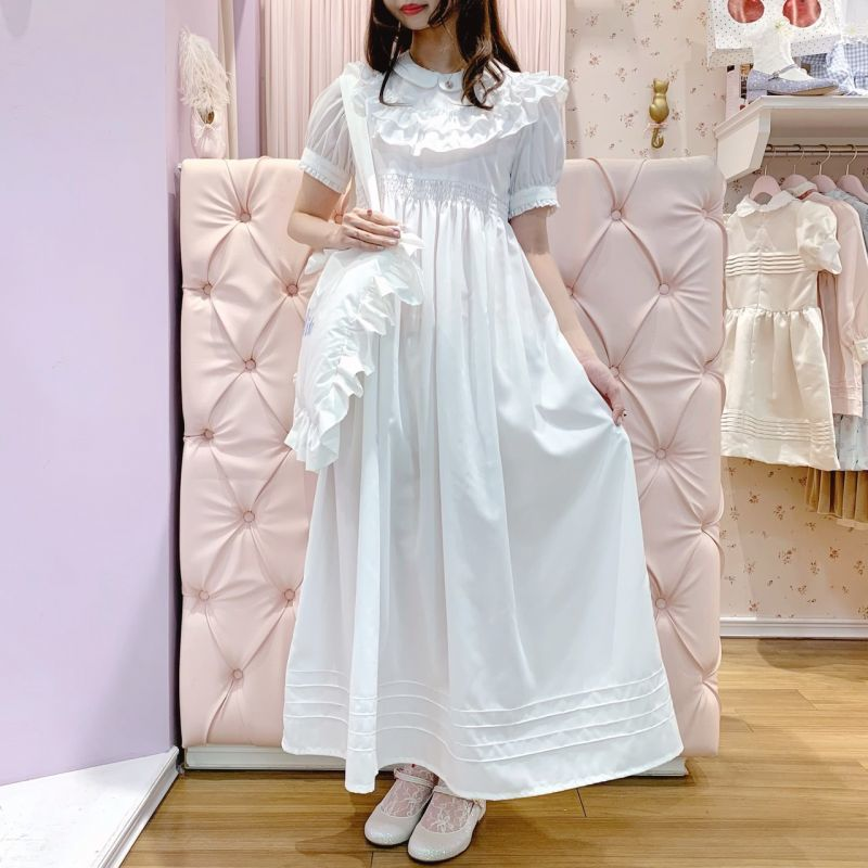 画像1: 【20%OFF】princess maxi one-piece dress(プリンセスマキシワンピース) (1)
