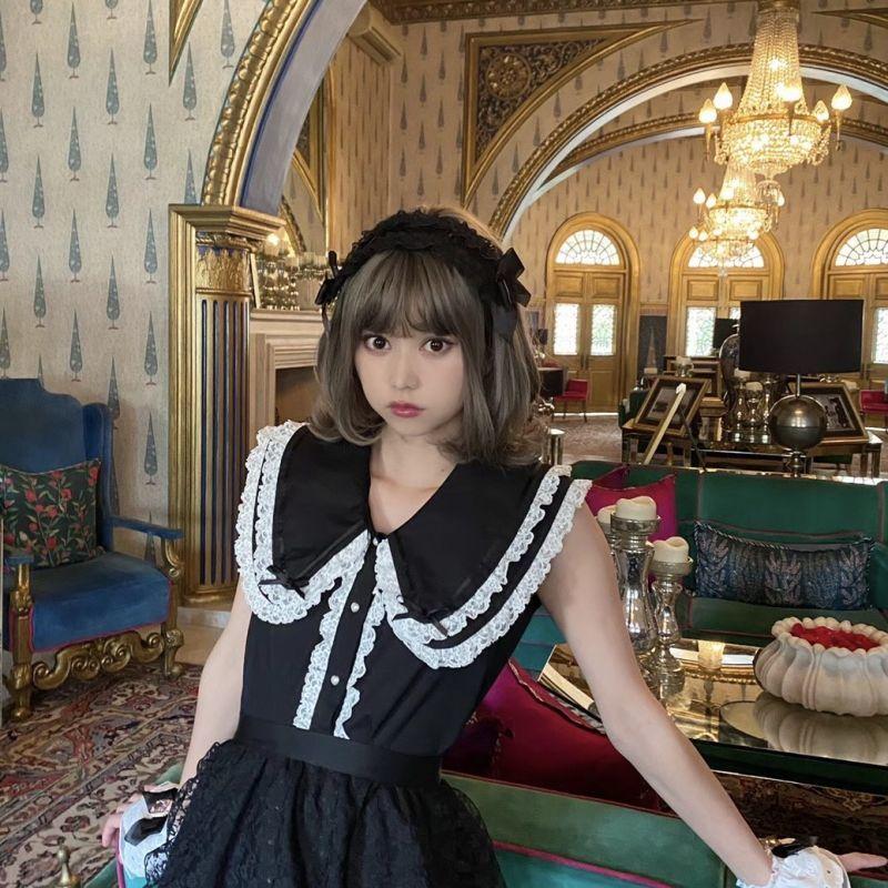 画像1: 【20%OFF】big coller blouse(ビッグカラーブラウス) (1)