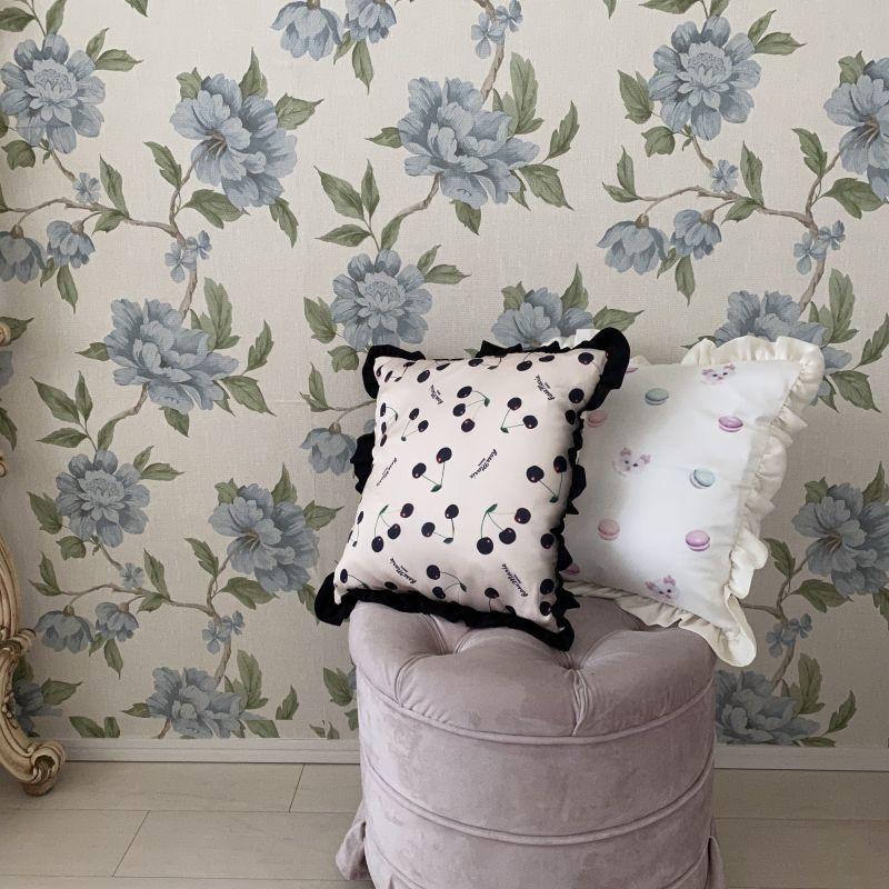 画像1: 【予約商品】frill pillow cushion(フリルピロークッション) (1)