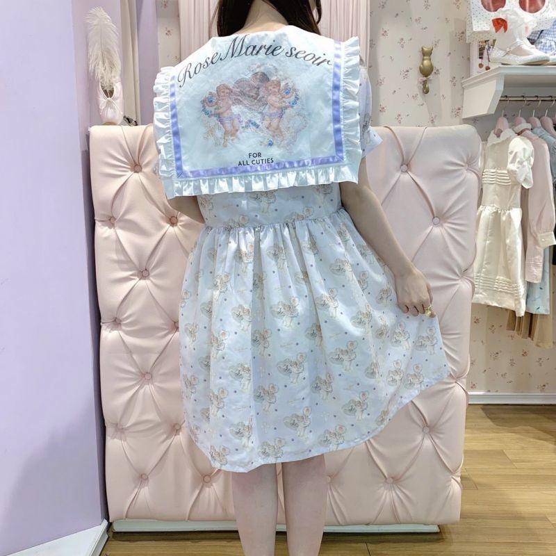 画像1: 【10%OFF】Angel sailor one-piece dress(エンジェルセーラーワンピース) (1)
