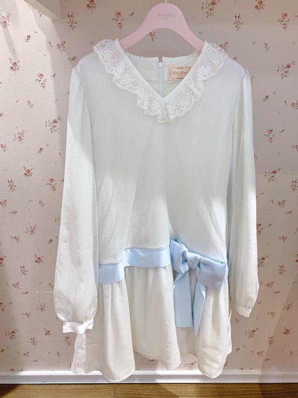 画像1: 【SAMPLE】shiny ribbon one-piece dress(シャイニーリボンワンピース) (1)