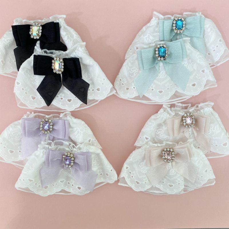 画像1: 【ご予約商品】lace cuffs(レースカフス/ビジュー小) (1)