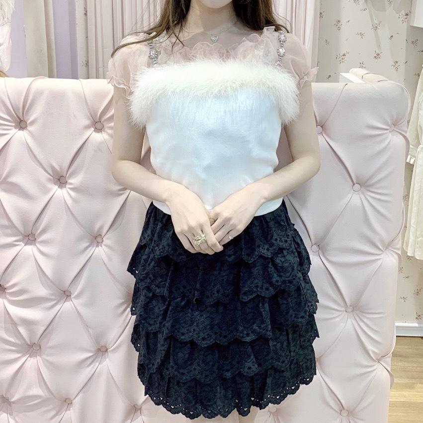 画像1: 【SAMPLE】lace frill skirt(レースフリルスカート) (1)