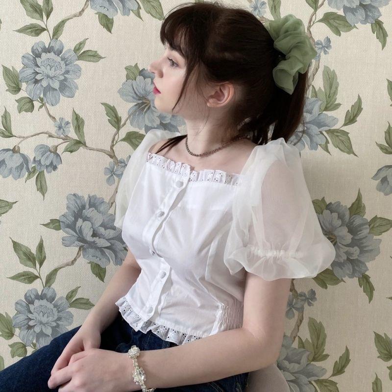 画像1: airy sleeve blouse(エアリースリーブブラウス) (1)