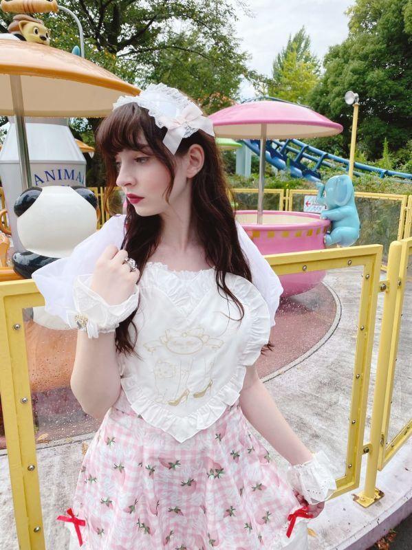 画像1: 【40%OFF】apron lamp one-piece dress(エプロンランプワンピース) (1)