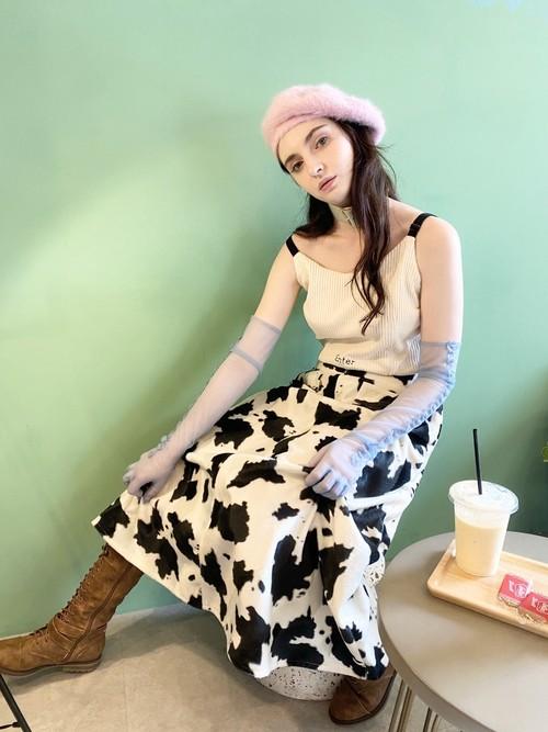 画像1: cow girl long skirt(カウガールロングスカート)  (1)