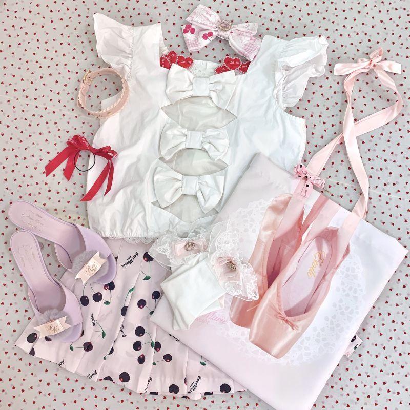 画像1: 【SAMPLE】ribbon bijou tops(リボンビジュートップス) (1)
