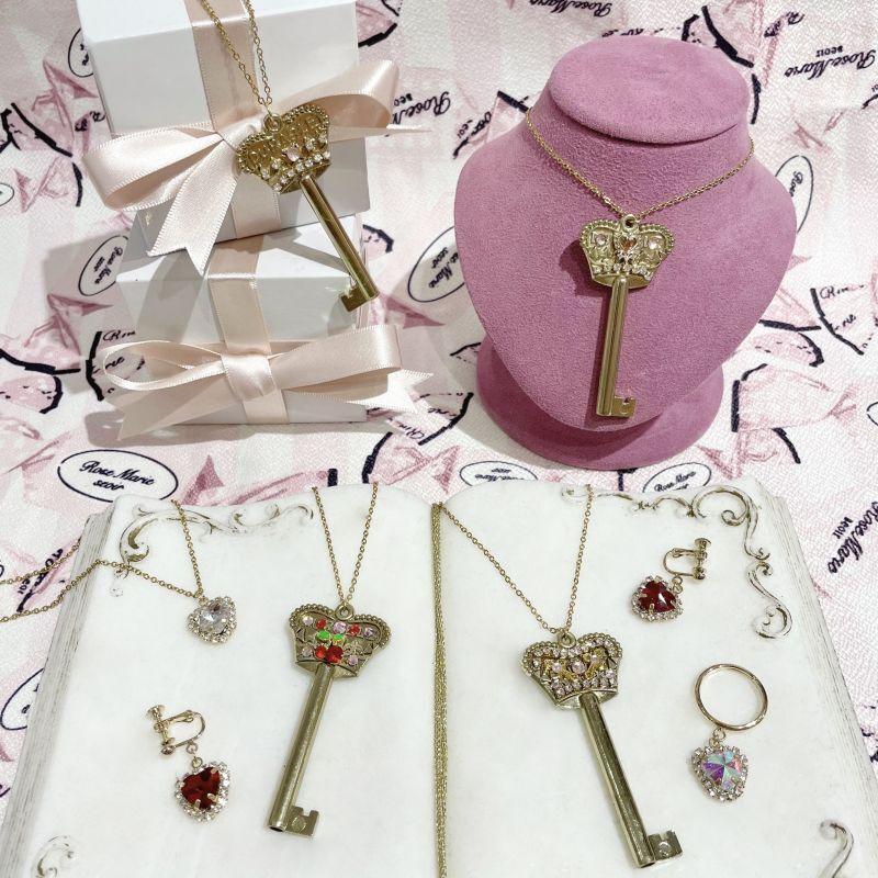 画像1: Twinkle key necklace (トゥインクルキーネックレス) (1)
