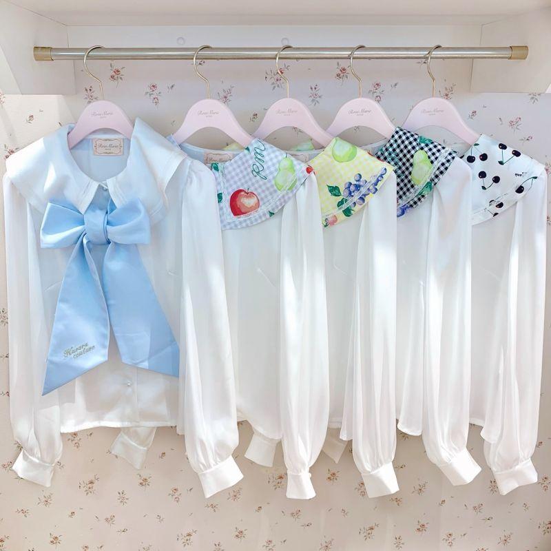 画像1: fruits lolita blouse (フルーツロリータブラウス) (1)