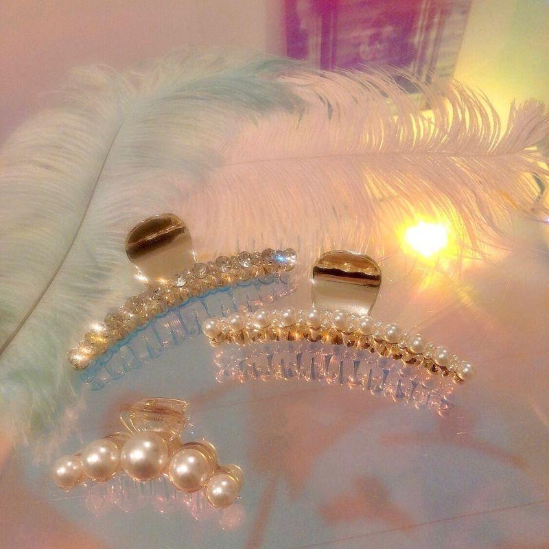 画像1: Pearl hair clip(パールヘアクリップ) (1)