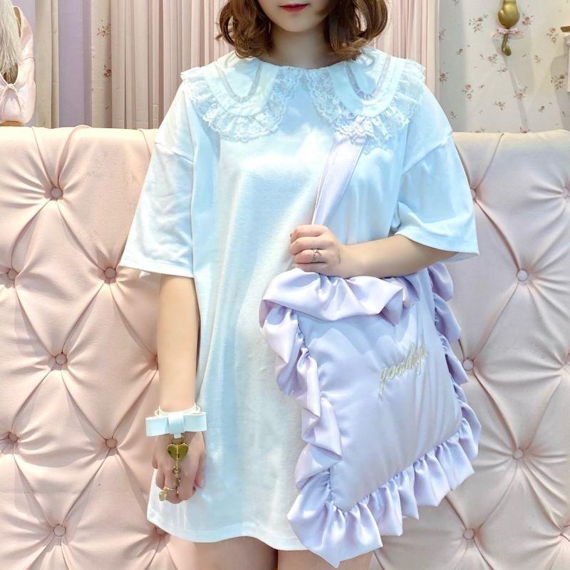 画像1: 【30%OFF】big collar T-shirt one-piece(ビッグカラーティーシャツワンピース) (1)