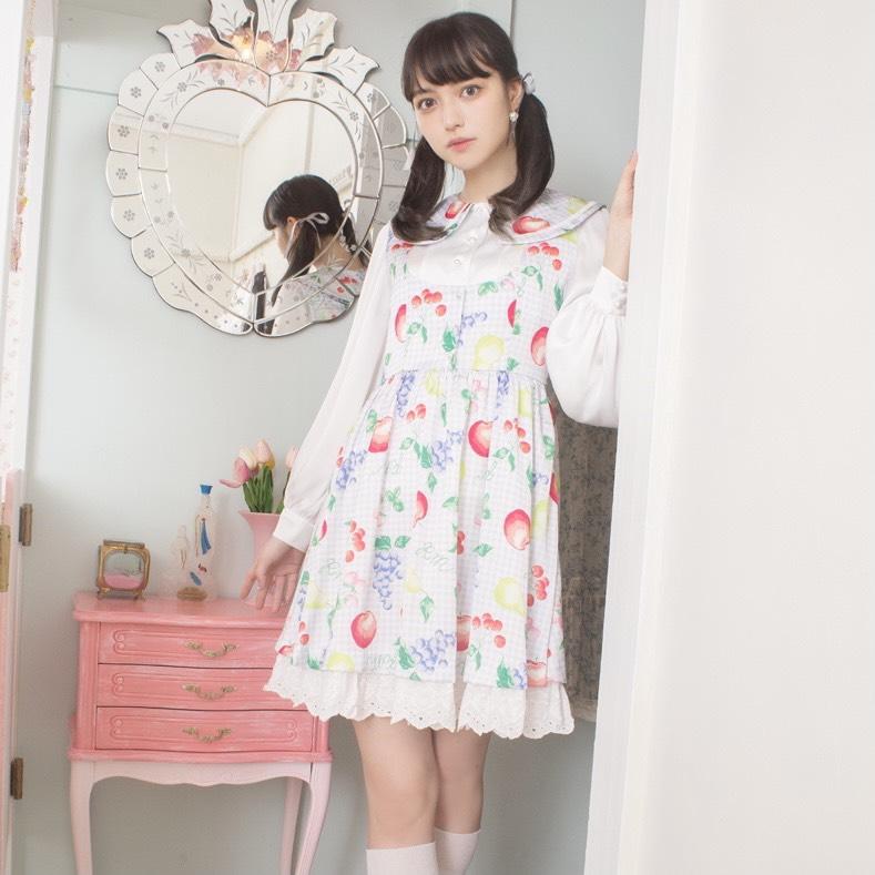 画像1: 【40%OFF】fruits lolita one-piece dress(フルーツロリータワンピース) (1)