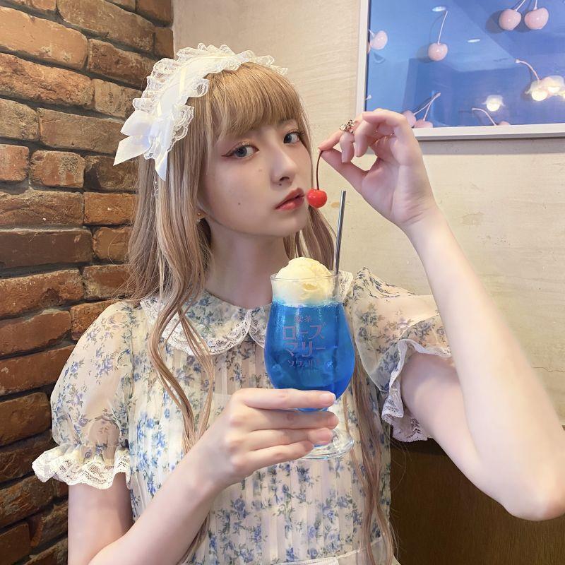 画像1: 【喫茶ローズマリーソワール】パフェグラス (1)