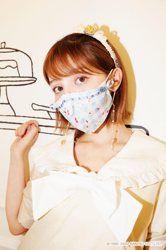 画像1: 【ご予約商品】ribbon mask(リボンマスク) (1)